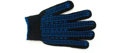 Перчатка черная 7,5 класс люкс, 5 нитей, протектор