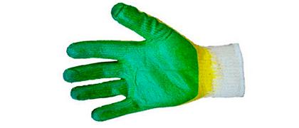 Перчатка ХБ с двойным латексным обливом