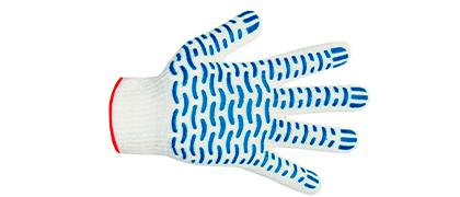 Перчатка 10 класс плотной вязки, п/эф Волна